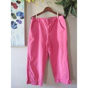 Caribbean Joe Coral Capri Pants Size 12
